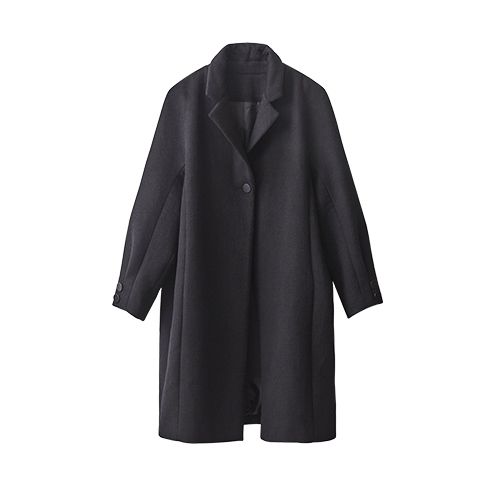 BUTTON OVER COAT (Black)