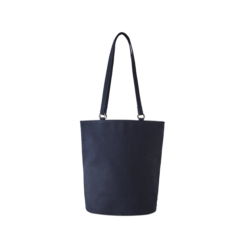 CANVAS OVAL BAG (Navy)