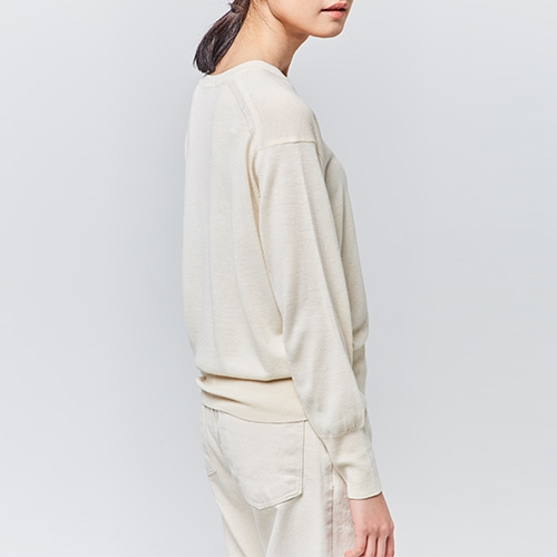 COLOR ROUND KNIT (Ivory)