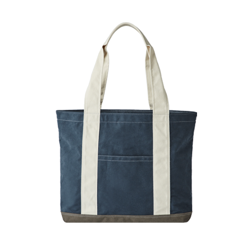 PEACH CANVAS BAG (Navy)