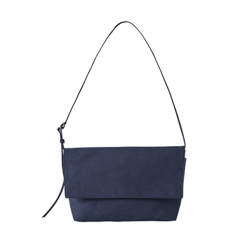 CANVAS FLAP BAG (Navy)