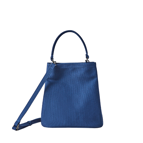 CANVAS BUCKET BAG (Blue)