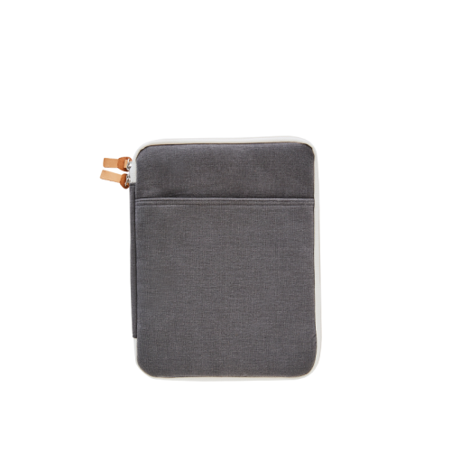CANVAS IPAD POUCH (11) (Charcoal)