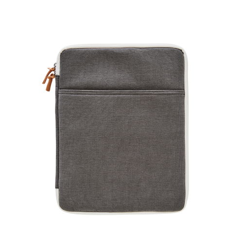 CANVAS LAPTOP POUCH (13) (Charcoal)
