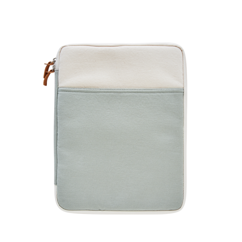 CANVAS LAPTOP POUCH (13) (Natural-Mint)