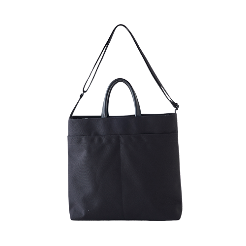CANVAS 2WAY BAG(Black)